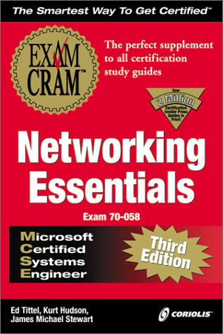 MCSE Networking Essentials Exam Cram 3rd 2000 9781576106211 Front Cover
