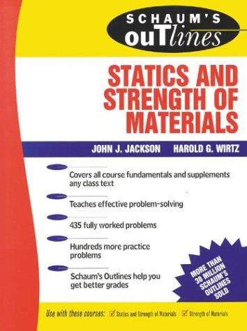 Schaum's Outline of Statics and Strength of Materials   1983 9780070321212 Front Cover