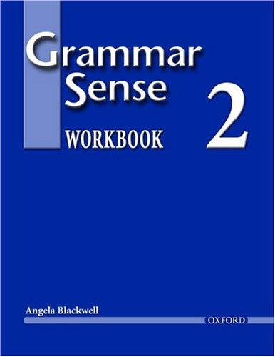 Grammar Sense   2004 (Workbook) edition cover