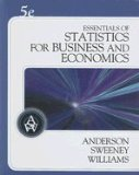 Essentials of Statistics for Business and Economics:  5th 2008 edition cover
