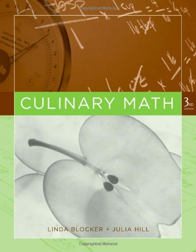 Culinary Math  3rd 2007 (Revised) edition cover