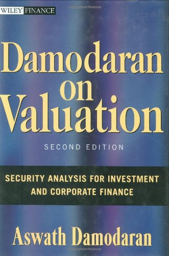 Damodaran on Valuation Security Analysis for Investment and Corporate Finance 2nd 2006 (Revised) edition cover