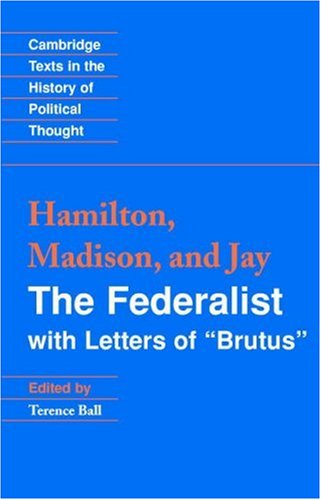 Federalist With Letters of Brutus  2003 edition cover