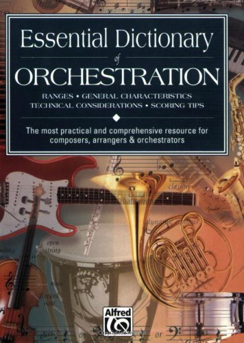 Essential Dictionary of Orchestration Pocket Size Book 2nd 1998 edition cover
