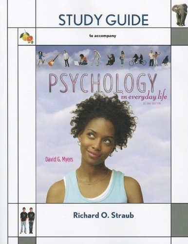 Study Guide for Psychology in Everyday Life   2011 edition cover