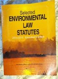 Selected Environmental Law Statutes 2014-2015: Educational Edition  2014 edition cover