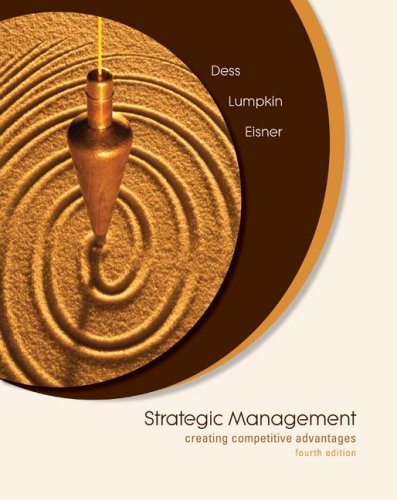 Strategic Management Creating Competitive Advantages 4th 2008 edition cover