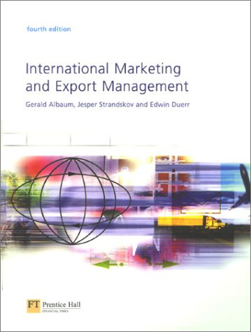 International Marketing and Export Management  4th 2002 9780273655213 Front Cover