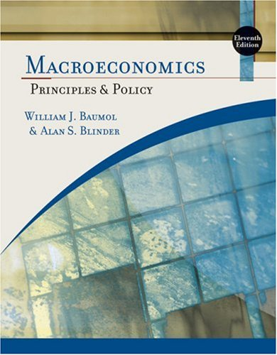 Macroeconomics Principles and Policy 11th 2009 edition cover