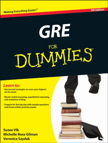 GRE for Dummies  7th 2011 edition cover