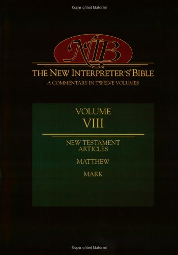 New Testament Articles, Matthew and Mark  N/A edition cover