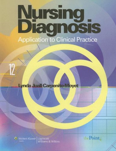 Nursing Diagnosis Application to Clinical Practice 12th 2007 (Revised) edition cover