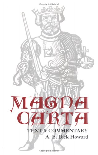 Magna Carta Text and Commentary  1998 (Reprint) edition cover
