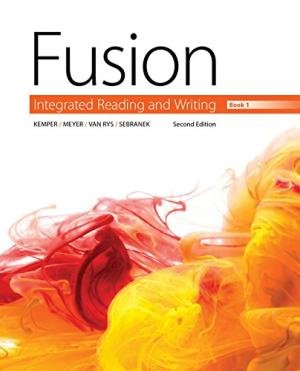 Fusion Integrated Reading and Writing, Book 1 2nd 9781305634213 Front Cover