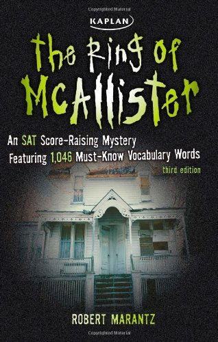 Ring of McAllister A Score-Raising Mystery Featuring 1,046 Must-Know SAT Vocabulary Words 3rd edition cover