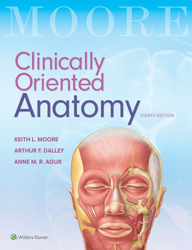 Clinically Oriented Anatomy  8th 2018 (Revised) 9781496347213 Front Cover