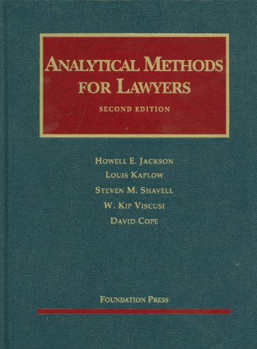 Analytical Methods for Lawyers  2nd 2011 (Revised) edition cover