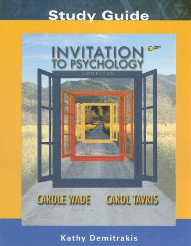 Invitation to Psychology:  3rd 2004 9780131455214 Front Cover