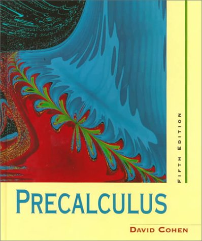 Precalculus A Problems-Oriented Approach 5th 1997 edition cover