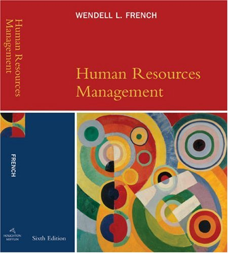 Human Resources Management  6th 2007 edition cover