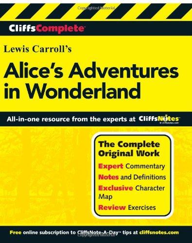 CliffsComplete Alice's Adventures in Wonderland   2001 9780764587214 Front Cover