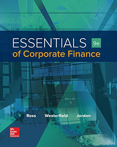 Essentials of Corporate Finance: 9th 2016 9781259277214 Front Cover