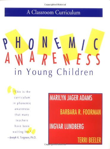 Phonemic Awareness in Young Children A Classroom Curriculum N/A edition cover