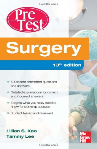 Surgery  13th 2012 edition cover