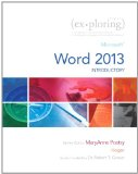 Exploring Microsoft Word 2013, Introductory  2014 edition cover