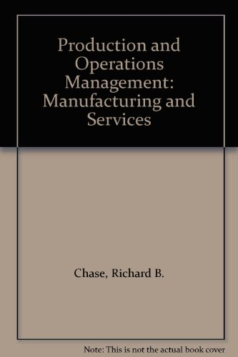 Production and Operations Management Manufacturing and Services 8th 1998 9780256269215 Front Cover