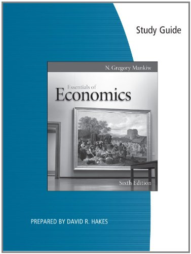 Study Guide for Mankiw's Essentials of Economics  6th 2012 9780538477215 Front Cover