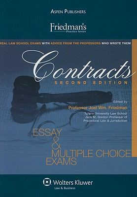 Contracts Essay and Multiple Choice Exams 2nd (Student Manual, Study Guide, etc.) 9780735586215 Front Cover