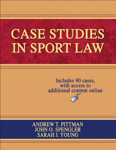 Case Studies in Sport Law   2008 edition cover