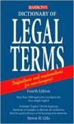 Dictionary of Legal Terms A Simplified Guide to the Language of Law 4th 2008 (Revised) edition cover