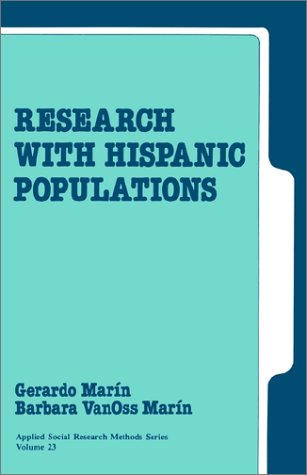 Research with Hispanic Populations   1991 9780803937215 Front Cover