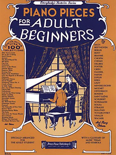 Everybody's Favorite Series Piano Pieces for Adult Beginners  2000 edition cover