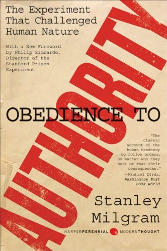 Obedience to Authority An Experimental View  2009 edition cover