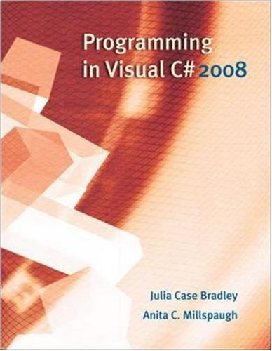 Programming in Visual C# 2008  3rd 2010 edition cover