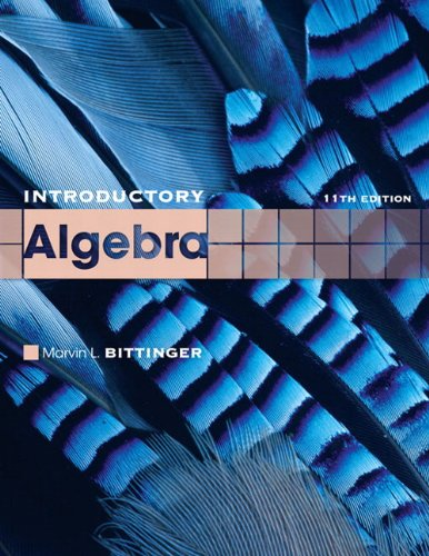 Introductory Algebra  11th 2011 edition cover