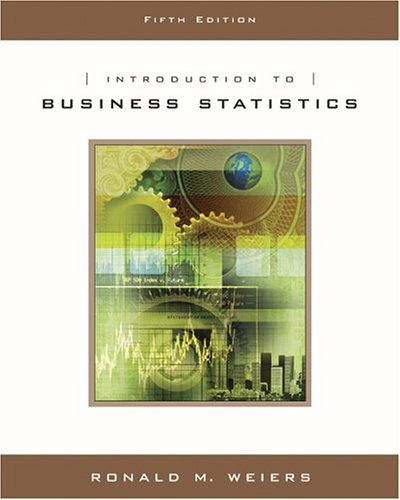 Introduction to Business Statistics  5th 2005 edition cover