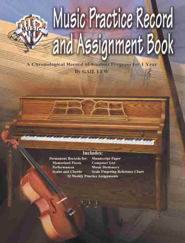 Music Practice Record and Assignment Book A Chronological Record of Student Progress for 1 Year  2004 edition cover