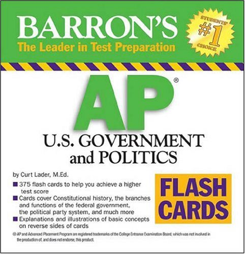Barron's AP U. S. Government and Politics Flash Cards   2008 edition cover