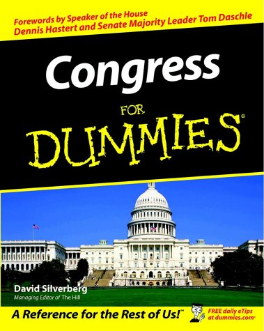 Congress for Dummies   2002 edition cover
