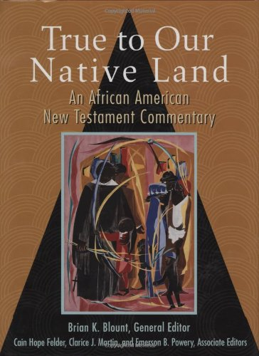 True to Our Native Land An African American New Testament Commentary  2007 edition cover