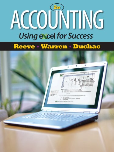 Accounting Using Excel� for Success  2nd 2012 edition cover