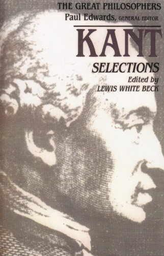 Kant Selections  1st 1988 edition cover