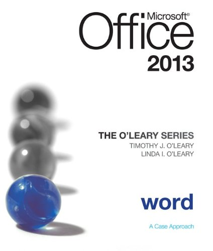 Microsoft Office Word 2010 A Projects A Pproach, Introductory  2014 edition cover