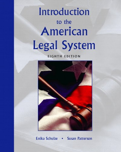 Introduction to the American Legal System  8th 2006 (Revised) edition cover