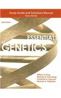 Study Guide and Solutions Manual for Essentials of Genetics  8th 2013 (Revised) 9780321857217 Front Cover