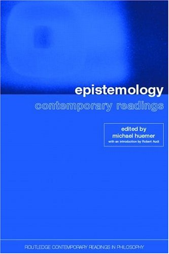 Epistemology Contemporary Readings  2002 edition cover